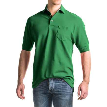 Viyella Stretch Pique Polo Shirt -  Stretch Cotton, Short Sleeve (For Men) in Jolly Green - Closeouts