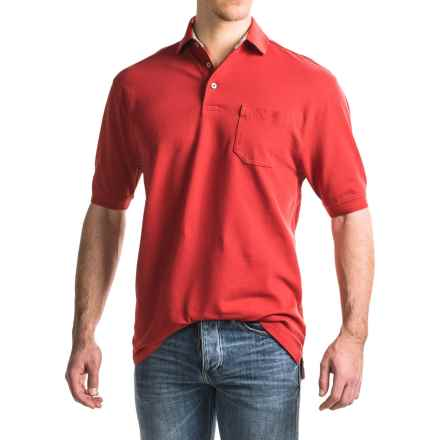 Viyella Stretch Pique Polo Shirt -  Stretch Cotton, Short Sleeve (For Men) in Red - Closeouts