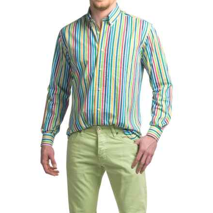 Viyella Striped Sport Shirt - Cotton, Long Sleeve (For Men) in Multi - Closeouts