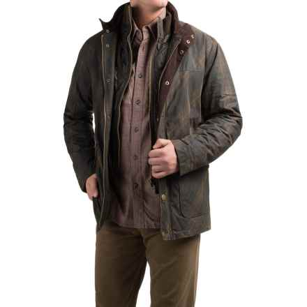 Viyella Waxed-Cotton Jacket - Insulated (For Men) in Brown - Closeouts