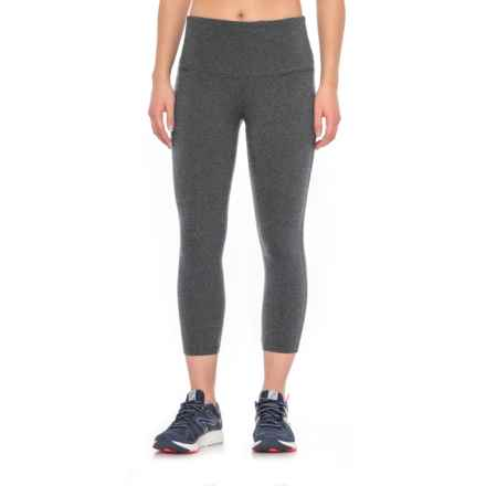 """Vogo Basic Core Capris - 5"""" Waistband (For Women) in Charcoal - Closeouts"""