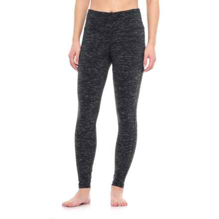 Vogo Brushed Space-Dye Leggings (For Women) in Black Heather - Closeouts