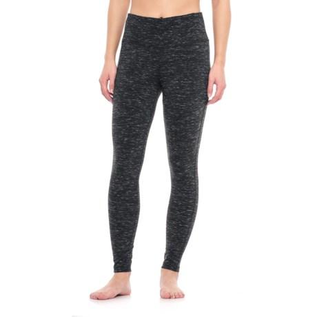 Vogo Brushed Space-Dye Leggings (For Women) in Black Heather
