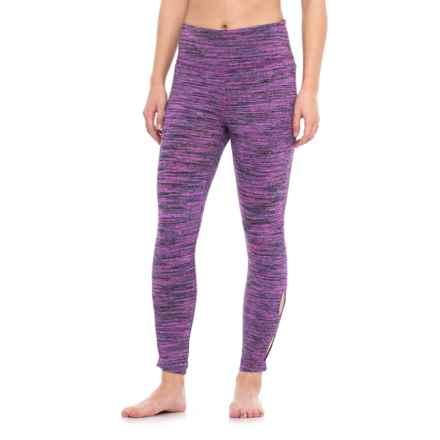 Vogo Brushed Space-Dye Leggings (For Women) in Purple Multi Grey - Closeouts