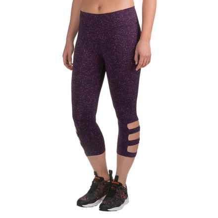 Vogo Dot Cutout Capris (For Women) in Purple/Light Purple/Pink - Closeouts