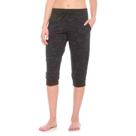 "Vogo French Terry Jogger Capris - 18"" (For Women) in Black - Closeouts"