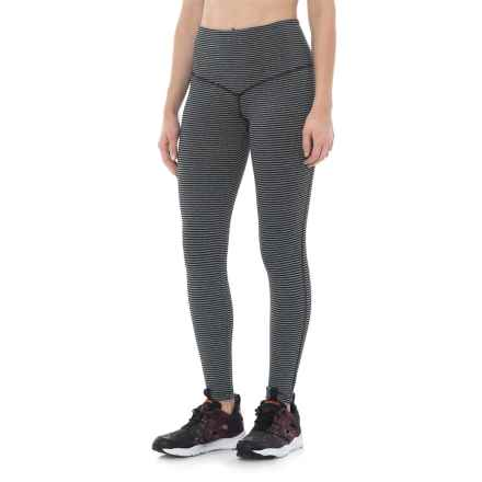 Vogo High-Waist Leggings (For Women) in Stripe Charcoal - Closeouts