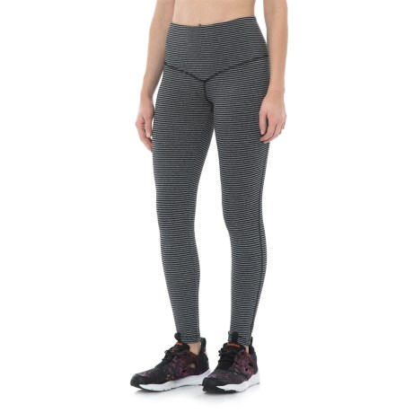 Vogo High-Waist Leggings (For Women) in Stripe Charcoal
