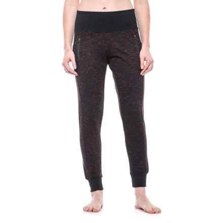 Vogo High-Waist Zip-Pocket Joggers (For Women) in Black/Fuchsia - Closeouts