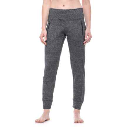 Vogo High-Waist Zip-Pocket Joggers (For Women) in Heather Charcoal - Closeouts
