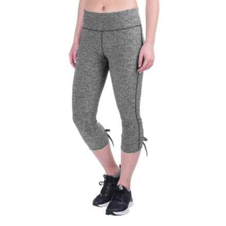 Vogo Keyhole Back Capris (For Women) in Charcoal Heather - Closeouts