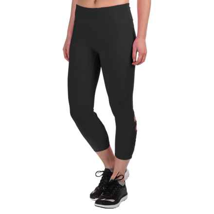 Vogo Lattice Back Capris (For Women) in Black - Closeouts
