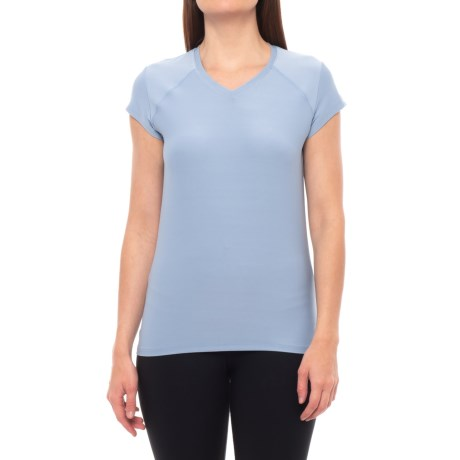 Vogo Mesh Back Shirt - Short Sleeve (For Women) in Blue