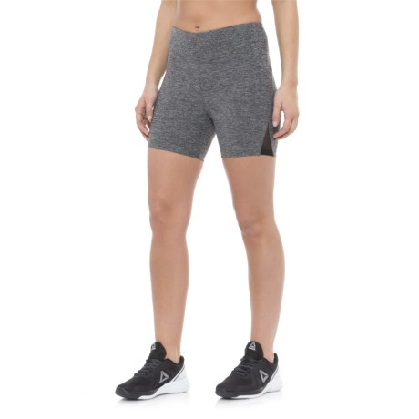 "Vogo Mesh Insert Shorts - 5"" (For Women) in Heather Charcoal"