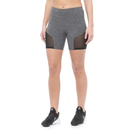 """Vogo Mesh Insert Shorts - 6"""" (For Women) in Heather Charcoal"""
