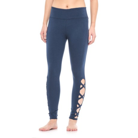 Vogo Open Lattice Leggings (For Women) in Navy