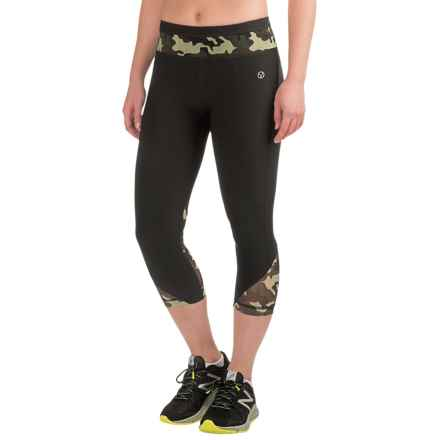 Vogo Power Mesh Capris (For Women) in Black Camo - Closeouts