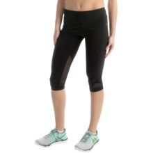 Vogo Power Mesh Capris (For Women) in Black - Closeouts