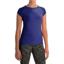 Vogo Power Mesh T-Shirt - Short Sleeve (For Women) in Blue - Closeouts