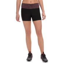 Vogo Space-Dyed Waist Shorts (For Women) in Black/Red - Closeouts
