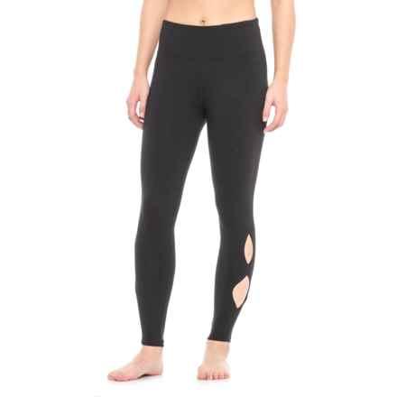 Vogo Teardrop Cutout Leggings (For Women) in Black - Closeouts