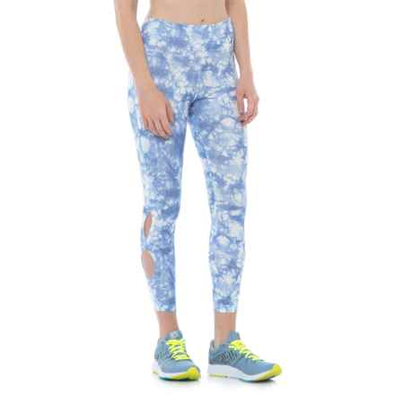 Vogo Tie-Dye Capris (For Women) in Peri Blue Tie Dye - Closeouts