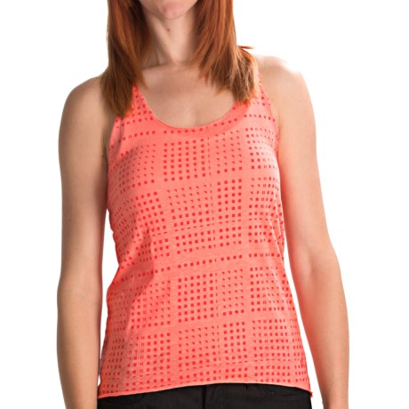 Volcom Moclov Hi-Low Twist Tank Top (For Women) in Coral Sorbet