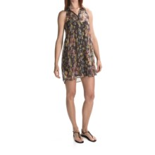 Volcom Not So Classic Dress - Sheer Chiffon, Sleeveless (For Women) in Black Combo - Closeouts