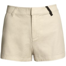 Volcom Posso High Waisted Short - Stretch Cotton (For Women) in Cream - Closeouts