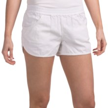 Volcom Rev Up Beach Shorts - Linen Blend (For Women) in White - Closeouts