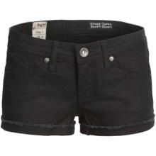 Volcom Sound Check Shorts - Low Rise (For Women) in Black - Closeouts