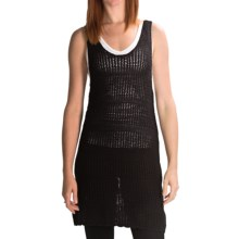 Volcom Stolen Jules Sweater Dress - Open Knit, Racerback, Sleeveless (For Women) in Black - Closeouts