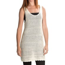 Volcom Stolen Jules Sweater Dress - Open Knit, Racerback, Sleeveless (For Women) in Natural - Closeouts