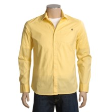 Volcom X Factor Solid Shirt - Long Sleeve (For Men) in Citron - Closeouts