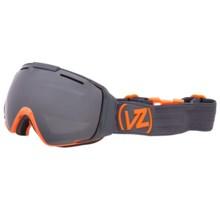 Von Zipper El Kabong Snowsport Goggle in Color Block Orange/Black Chrome - Closeouts