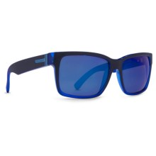 Von Zipper Elmore Sunglasses in Black Blue Boilerplate/Astro Glo - Closeouts