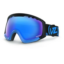 Von Zipper Feenom CIF Frostbyte Snowsport Goggles - Interchangeable Lens in Black/Blue - Closeouts