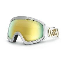 Von Zipper Feenom CIF Frostbyte Snowsport Goggles - Interchangeable Lens in White Gloss/Gold Chrome - Closeouts