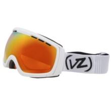 Von Zipper Feenom N.L.S. Satin Snowsport Goggles in White Satin / Fire Chrome - Closeouts
