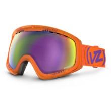 Von Zipper Feenom Snowsport Goggles in Tangerine/Meteor Chrome - Closeouts