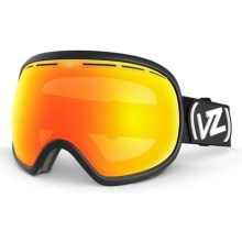 Von Zipper Fishbowl Snowsport Goggles in Black/Fire Chrome - Closeouts