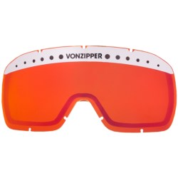 Von Zipper Fubar Replacement Lens in Fire Chrome