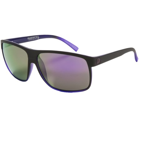 Von Zipper Sidepipe Sunglasses in Black Purple Pow Pow/Meteor Glo