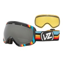 Von Zipper Skylab Snowsport Goggles - Interchangeable Lens in Black/Black Chrome - Closeouts