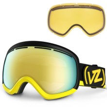 Von Zipper Skylab Snowsport Goggles - Interchangeable Lens in Yellow/Gold Chrome - Closeouts