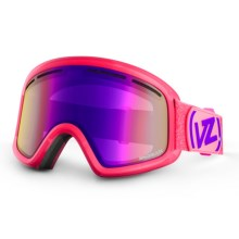 Von Zipper Trike Frosteez Snowsport Goggle (For Kids and Youth) in Bubblegum/Meteor Chrome - Closeouts