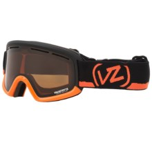 Von Zipper Trike Snowsport Goggle (For Kids and Youth) in Tangerine/Bronze Chrome - Closeouts