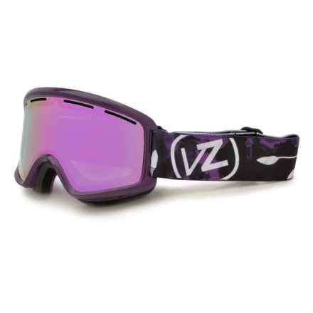 VonZipper Beefy Snowsport Goggles in Wopushy Violet Gloss/Meteor Chrome - Closeouts
