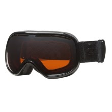 VonZipper Chakra Snowsport Goggles in Blackout Gloss/Amber Chrome - Closeouts