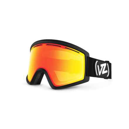 VonZipper Cleaver Ski Goggles in Black Satin/Fire Chrome 2 - Closeouts
